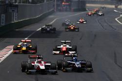 Nobuharu Matsushita, ART Grand Prix e Raffaele Marciello, RUSSIAN TIME, precede Oliver Rowland, MP Motorsport e Antonio Giovinazzi, PREMA Racing