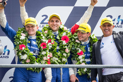 LMP2 podium: third place #37 SMP Racing BR01 Nissan: Vitaly Petrov, Viktor Shaytar, Kirill Ladygin with team owner Boris Rotenberg