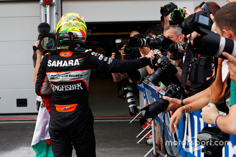 Sergio Pérez, Sahara Force India F1 celebra