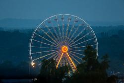 La grande roue du Mans au petit matin