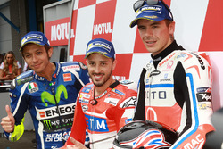 Poleman Andrea Dovizioso, Ducati Team, secondo qualificato Valentino Rossi, Yamaha Factory Racing, terzo qualificato Scott Redding, Pramac Racing