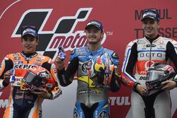 Подіум: переможець гонки Джек Міллер, Marc VDS Racing Honda, друге місце Марк Маркес, Repsol Honda Team, третє місце Скотт Реддінг, Pramac Racing