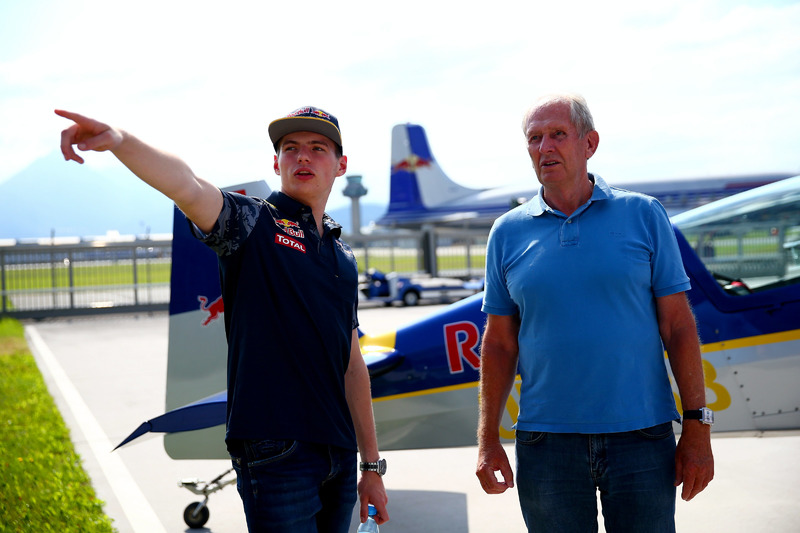 Dr. Helmut Marko and Max Verstappen, Red Bull Racing