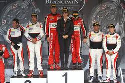 Podium Pro Am: winner #11 Kessel Racing Ferrari 488 GT3: Michal Broniszewski, Giacomo Piccini, second place #87 AKKA ASP Mercedes AMG GT3: Jean-Luc Beaubelique, Morgan Moullin-Traffort, third place #89 Akka ASP Mercedes AMG GT3: Christophe Bourret, Jean-Philippe Belloc