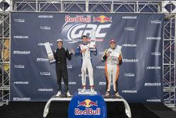 Podium GRC Lites: juara lomba Miki Wekstrom, peringkat kedua Blake Williams, peringkat ketiga Parker Chase