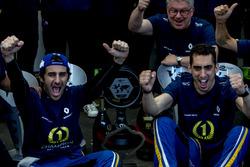 Nicolas Prost, Renault e.Dams and Sébastien Buemi, Renault e.Dams celebrate