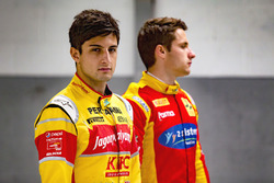 Mitch Evans, Campos Racing and Jordan King, Racing Engineering pose for a photoshoot
