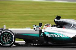 Льюіс Хемілтон, Mercedes AMG F1 W07 Hybrid вітає вболівальників