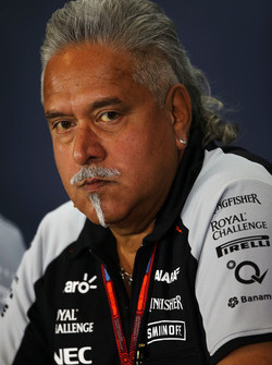 Dr. Vijay Mallya, a Sahara Force India F1 Team tulajdonosa az FIA sajtótájékoztatóján