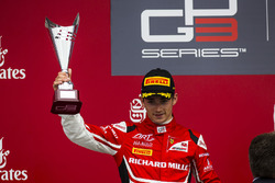 Podium: second place Charles Leclerc, ART Grand Prix