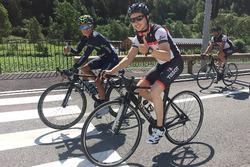 Jorge Lorenzo con el ciclista colombiano Nairo Quintana