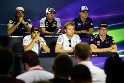 Persconferentie: Carlos Sainz Jr., Scuderia Toro Rosso, Sergio Perez, Sahara Force India F1, Marcus Ericsson, Sauber F1 Team, Felipe Massa, Williams, Nico Rosberg, Mercedes AMG F1, Max Verstappen, Red Bull Racing