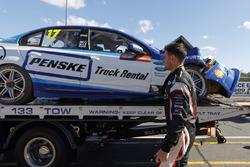 Car of Scott Pye, DJR Team Penske after the crash