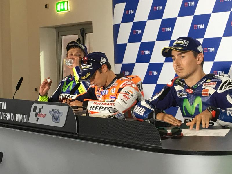 La lamentable discusión entre Rossi y Lorenzo que enturbió el triunfo de Pedrosa en Misano 2016