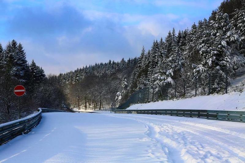 Nurburgring nevado. Foto: Nurburgring