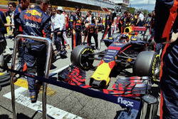 Max Verstappen on the grid