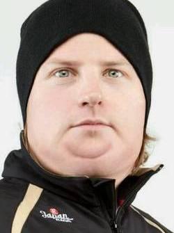 Kimi Raikkonen has been eating too much ice cream