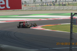 Raikkonen at turn 1