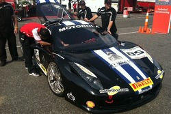 More tech inspection on John Farano's 458 Italia