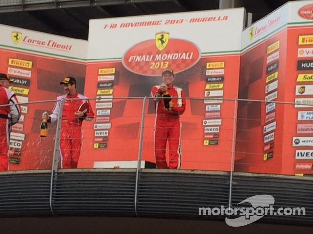 Mike spraying some Clicquot on the podium