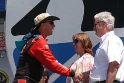 Thomas Martin gets best wishes from Sonoma President Steve Paige