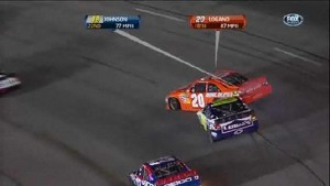 Logano Hit By Johnson - Richmond International Raceway 2011