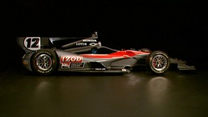 Public Testing of 2012 IndycCar Series Car