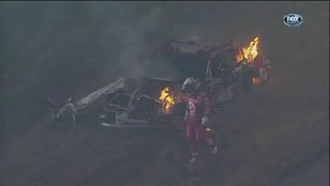 Montoya's Audio During Wreck - Daytona 500 - Daytona - 02/27/2012