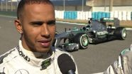 2013 Mercedes AMG Petronas W04 Car Launch - Lewis Hamilton