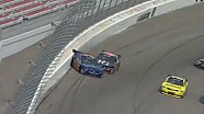 Bayne and Larson slap the wall in Nationwide Las Vegas