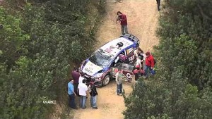 Crash @ WRC Rally de Portugal 2013: Mads Østberg