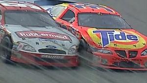 Ricky Craven and Kurt Busch finish at Darlington 2003