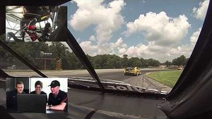 Team Cadillac drivers Johnny O'Connell, Andy Pilgrim and Jordan Taylor light hearted Lap of Mid-Ohio