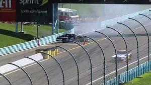 Bayne slides backwards almost onto pit road   Watkins Glen (2013)