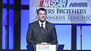 NASCAR | Tony Stewart accepts 2013 NMPA Myers Brothers award (2013)