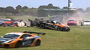 2010 Australian GT Sandown Race 1 MASSIVE CRASH LIVE