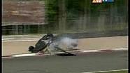 Stéphane Ortelli crash Le Mans Series at Monza 2008