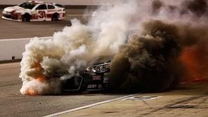 Crew member pulls Sorenson from flaming car   Richmond (2014)