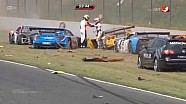 Huge start crash 2014 ADAC GT Masters at Oschersleben