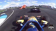 Plowman Goes Airborne in Crash With Montagny - Indy GP 2014