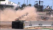 Tanner Foust flips over during X-Games
