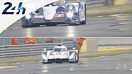 Le Mans 2014 - Toyota and Audi, approach to the curbs