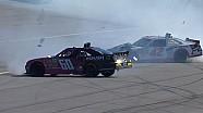 Larson & Buescher collide in big accident - 2014 Kansas
