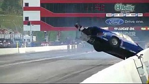 Cameraman hit by Dragster