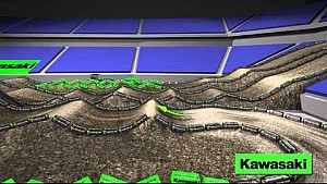 Track Map dinámico: Detroit - 12a ronda AMA Supercross