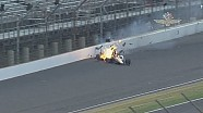 James Hinchcliffe crashes at Indianapolis 500 practice