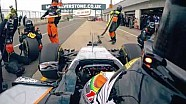 Martin Brundle teste la Force India à Silverstone