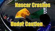 NASCAR se estrella bajo bandera amarilla