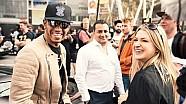 Une journaliste demande à Lewis Hamilton ses impressions sur Monaco