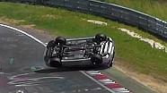 HEAVY CRASH ROLLOVER VW Golf R32 Mk4 - 28 06 2015 Touristenfahrten Nürburgring